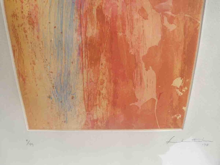 Helen Frankenthaler Color Etching In Good Condition For Sale In West Palm Beach, FL