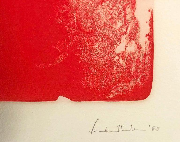 Divertimento - Orange Abstract Print by Helen Frankenthaler