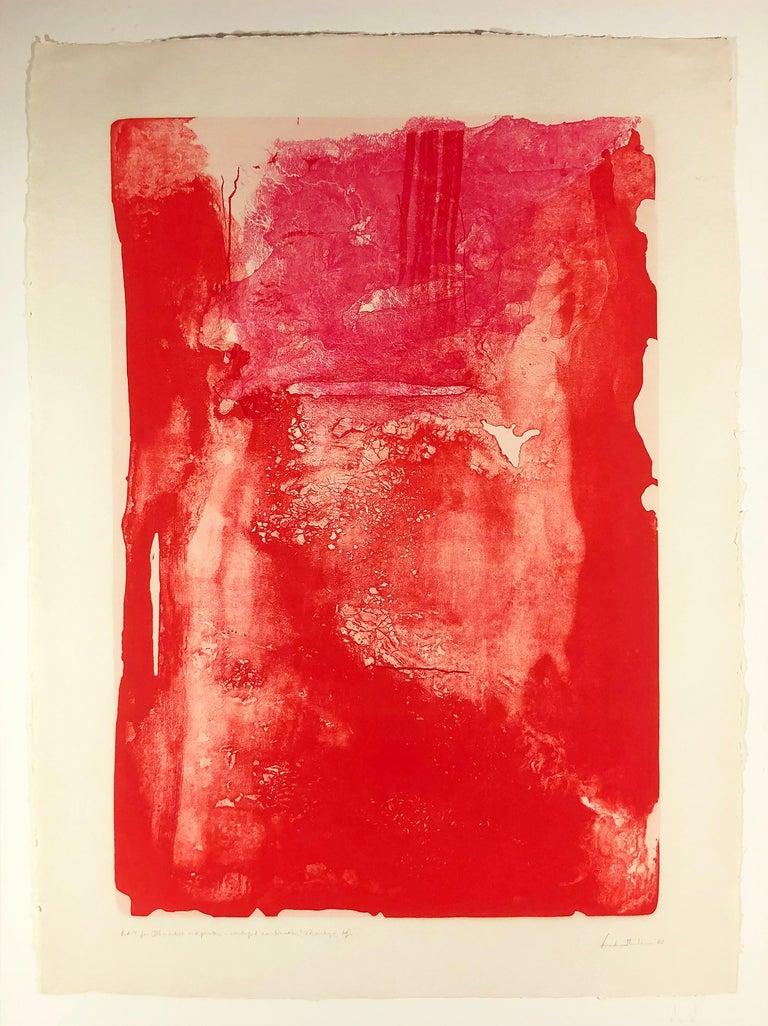 Helen Frankenthaler Abstract Print - Divertimento