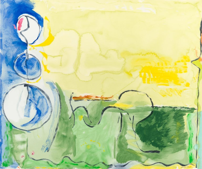 Helen Frankenthaler Abstract Print - Flotilla