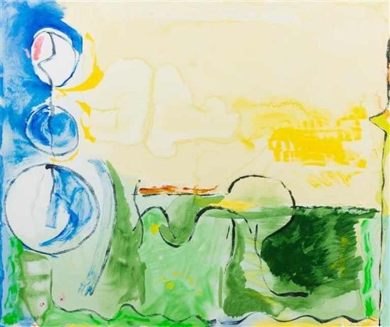 Helen Frankenthaler  (American, 1928-2011)  Flotilla, 2006  Color screenprint on Rives BFK paper, hand silkscreened in 73 colors Signed and dated in pencil, numbered 25/120 (edition)  Published and printed by Brand X Editions for the Naples Fine Art