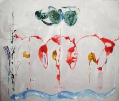 """Helen Frankenthaler-Aerie-29.5"""" x 38.75""""-Serigraph-2009-Abstract-Red, White"""