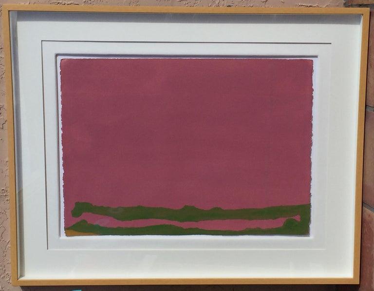 Helen Frankenthaler Green Likes Mauve, Abstract, Modern, Contemporary, 1970 For Sale 1