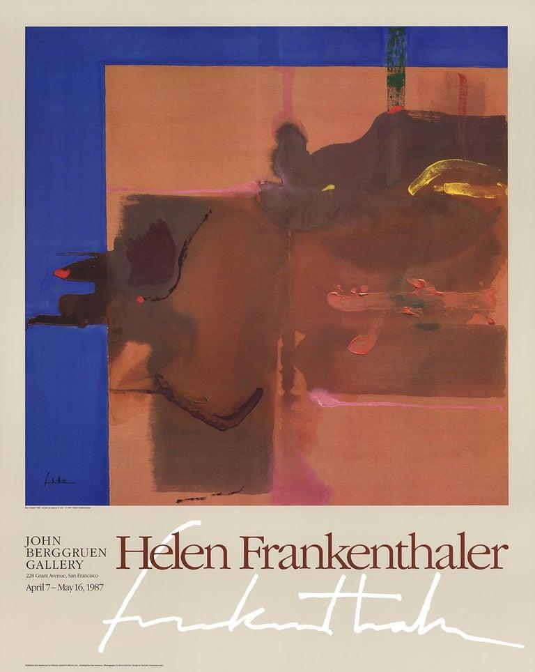 "Helen Frankenthaler-Rio Grande-36.5"" x 29""-Poster-1987-Abstract-Multicolor, Brow - Print by Helen Frankenthaler"