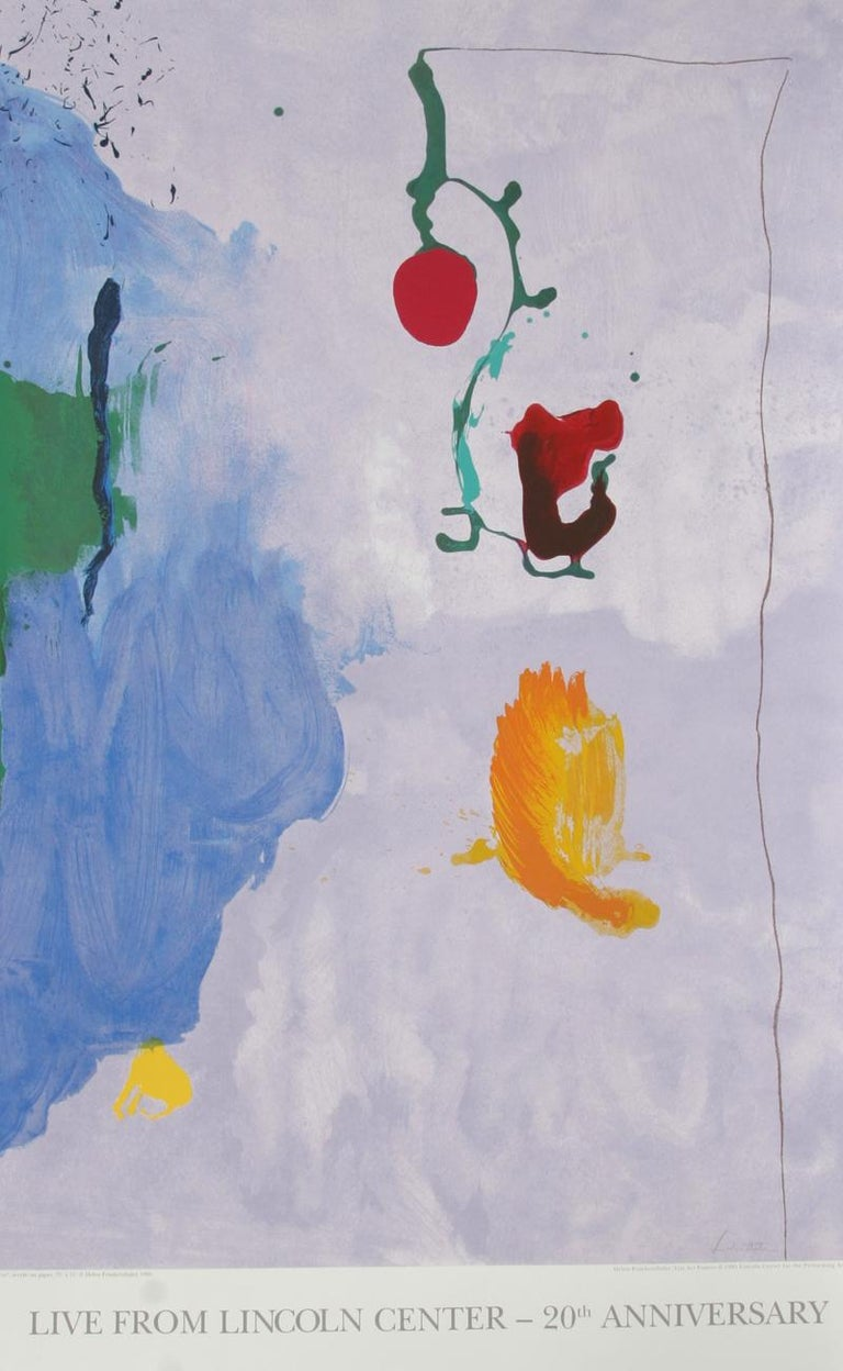 Helen Frankenthaler Abstract Print - Live from Lincoln Center, 20th Year (Eve)