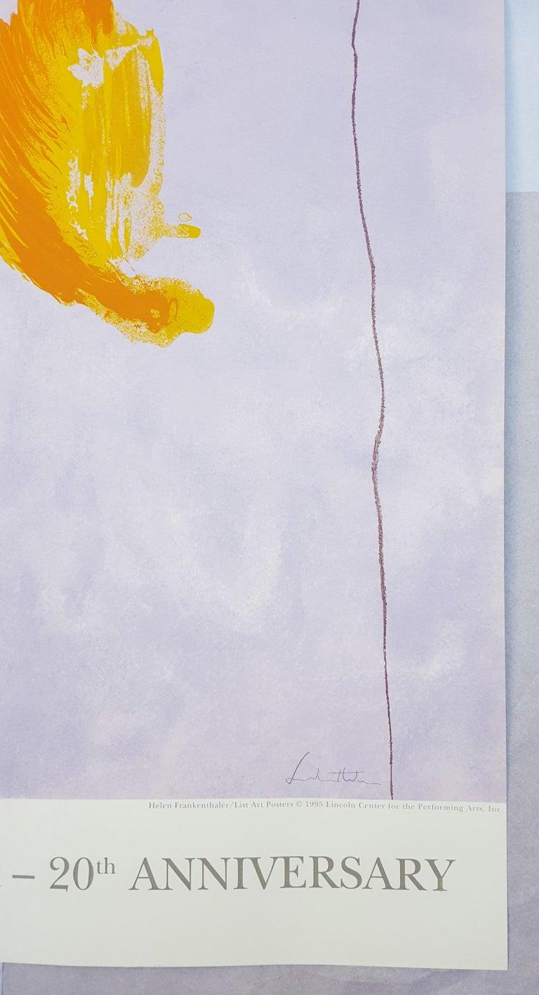 An original screenprint poster on Somerset rag paper by American artist Helen Frankenthaler (1928-2011) titled
