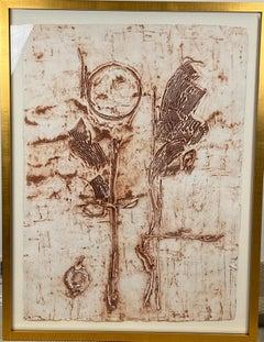 """Parets"" original colograph by Helen Frankenthaler,"