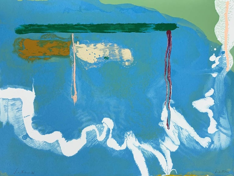 Skywriting; 1997; Screen print in colors on wove paper; 30 x 40 inches - Print by Helen Frankenthaler
