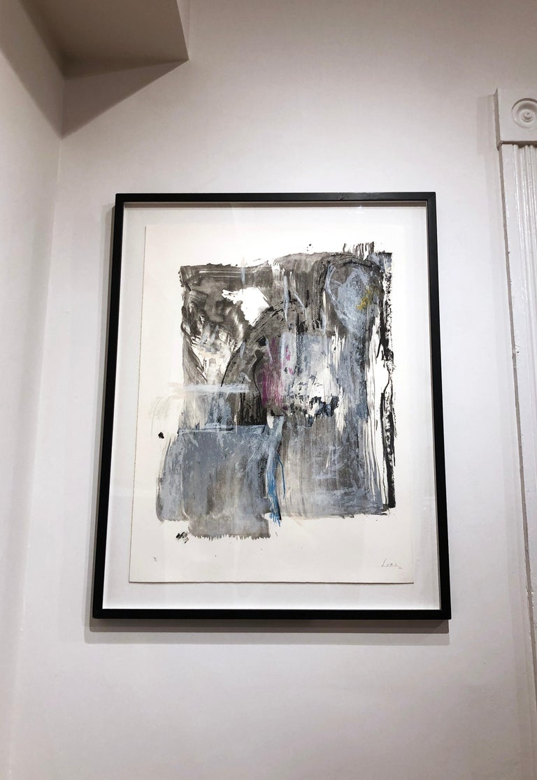 Sudden Snow - Gray Abstract Print by Helen Frankenthaler
