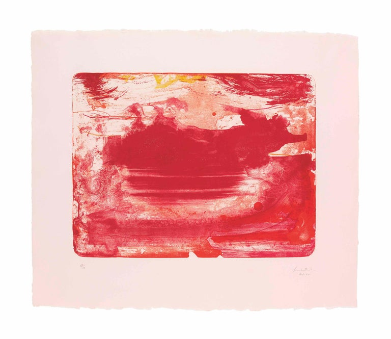 Helen Frankenthaler Abstract Print - The Red Sea