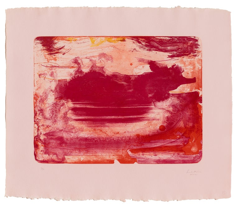 The Red Sea - Print by Helen Frankenthaler