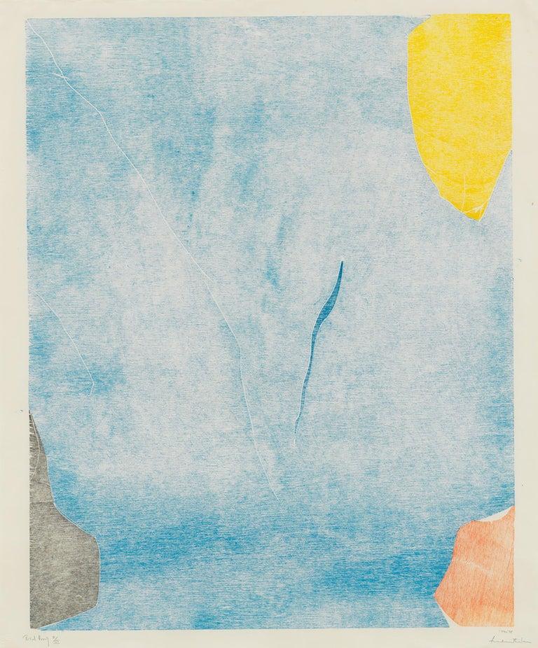 Helen Frankenthaler Abstract Print - Trial Premonition I/III