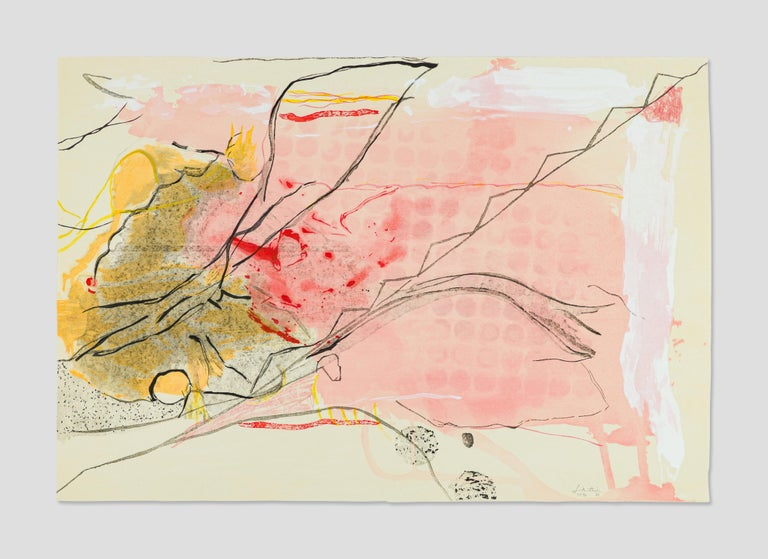 Helen Frankenthaler Abstract Print - Weeping Crabapple
