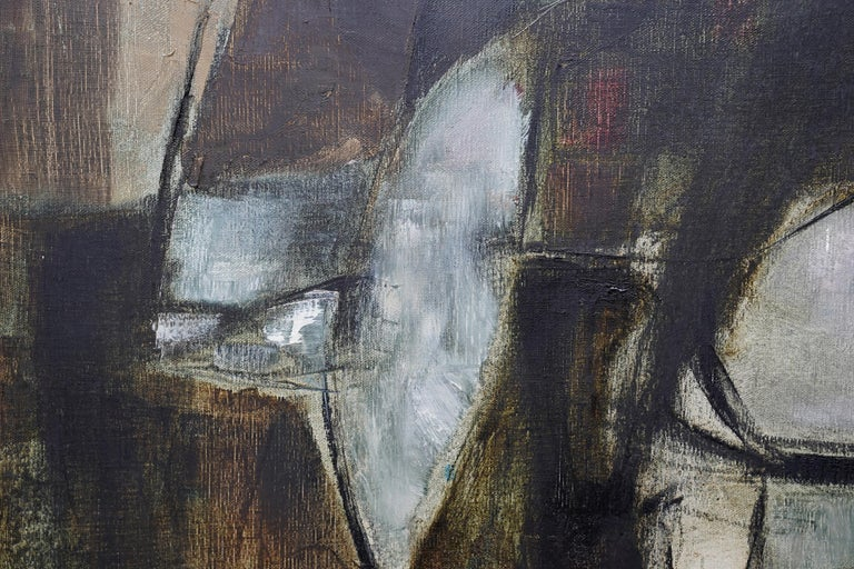 Mistrel - British Abstract Expressionist art 1960's exhibited oil painting For Sale 6