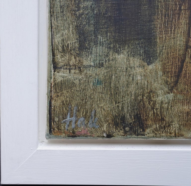 Mistrel - British Abstract Expressionist art 1960's exhibited oil painting For Sale 8