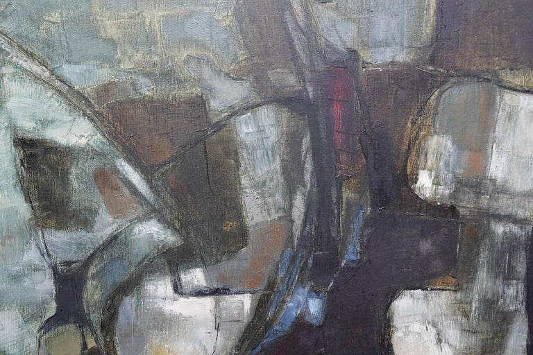Mistrel - British Abstract Expressionist art 1960's exhibited oil painting For Sale 1