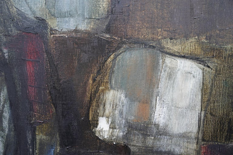 Mistrel - British Abstract Expressionist art 1960's exhibited oil painting For Sale 3