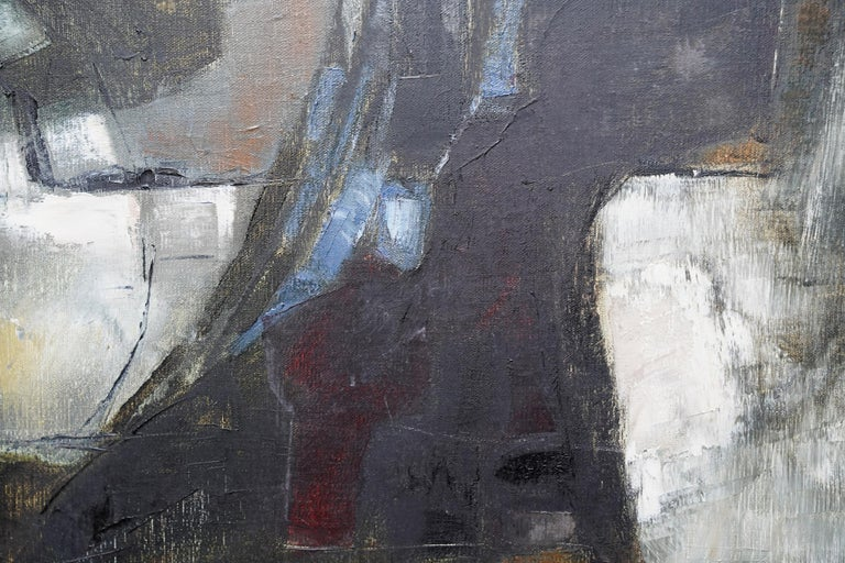 Mistrel - British Abstract Expressionist art 1960's exhibited oil painting For Sale 4