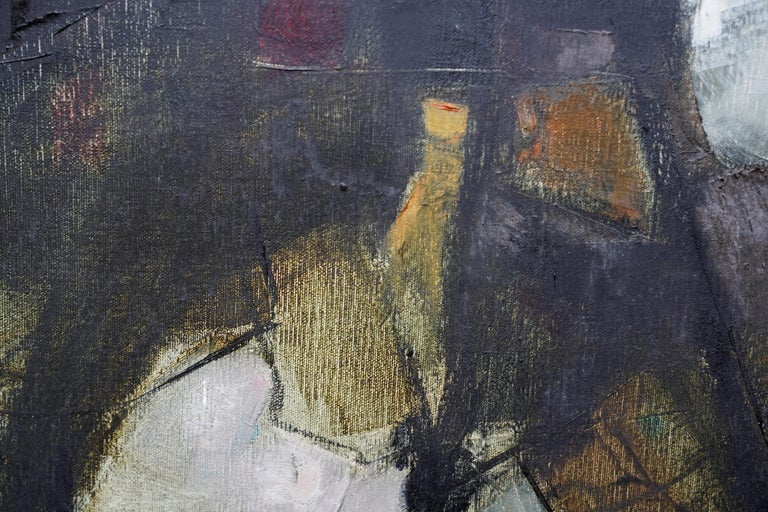 Mistrel - British Abstract Expressionist art 1960's exhibited oil painting For Sale 5