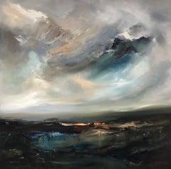 Helen Howells, A Passing Storm, Contemporary Art, Original Seascape Painting