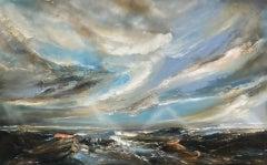 Helen Howells, Half Tide, Original Seascape Painting, Contemporary Art