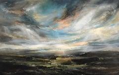 Helen Howells. Morning Walk, Original Landscape Painting, Contemporary Art