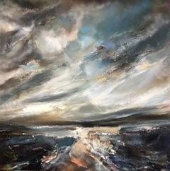 Helen Howells, Remembering, Original Seascape Painting, Contemporary Art