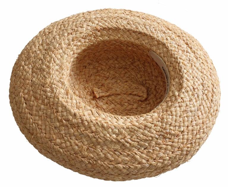 84e1d02a9ea1d Women s Helen Kaminski Raffia Wide Brim Hat Classic 5 Handmade in  Madagascar One Size For Sale