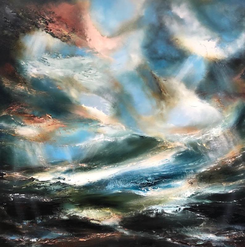 Asperous Shoreline, Seascape Art, Landscape Painting, Contemporary Art