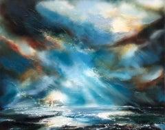 Helen Howells Title: Daybreak Original Oil Painting on Canvas, Seascape Art