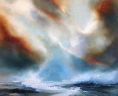 Helen Langfield, Hope At Sea, Original Oil on Canvas, Seascape, Welsh Coast