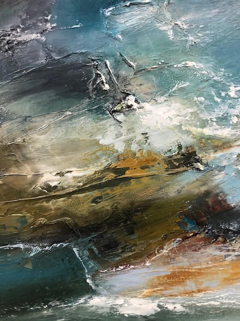 Island Whisperings, Helen Langfield, Helen Howells, Seascape Painting For Sale 6
