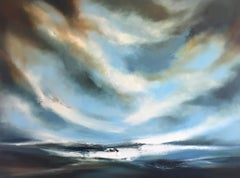 Poetry At Sea, seascape, skyscape, oil painting