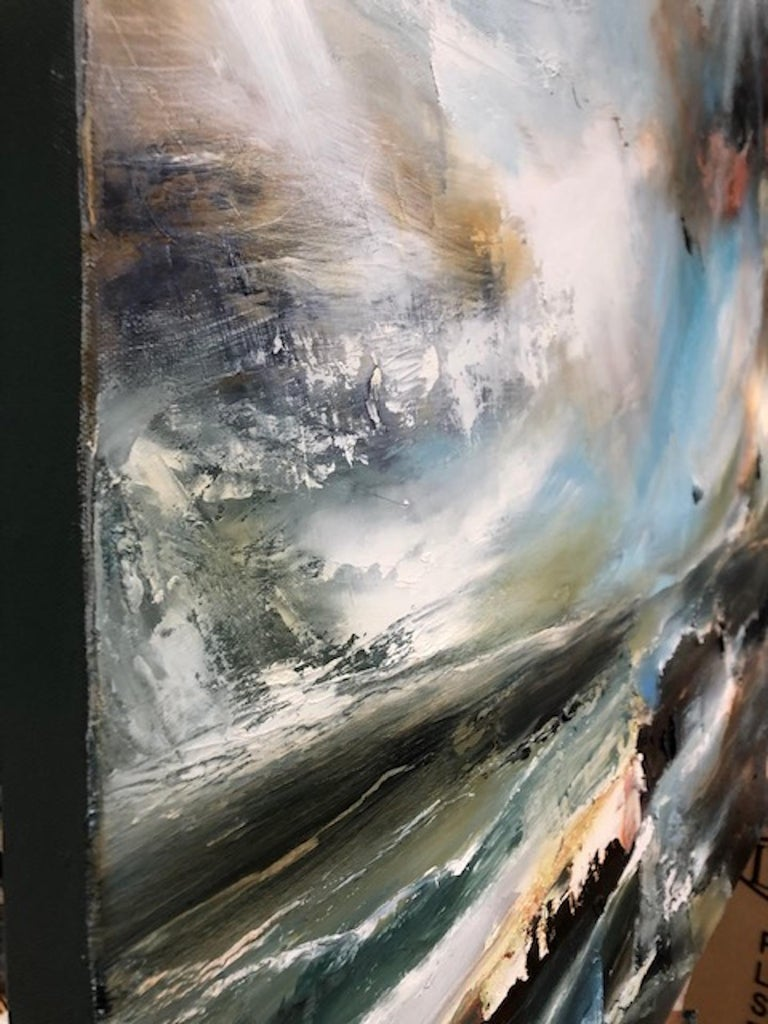 Sacred Song, Helen Howells, Original Contemporary Painting, Abstract Seascape Ar For Sale 2
