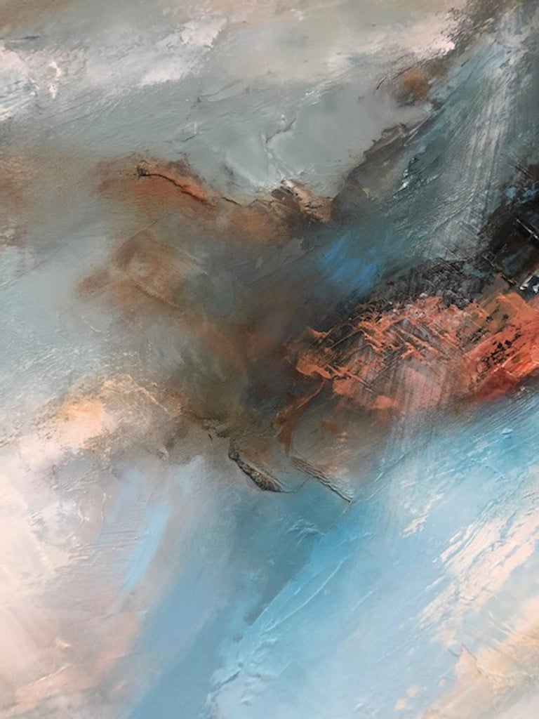 Sacred Song, Helen Howells, Original Contemporary Painting, Abstract Seascape Ar For Sale 3