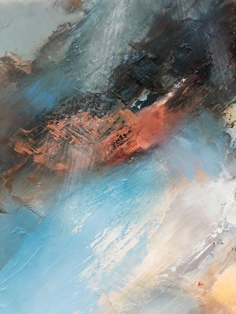 Sacred Song, Helen Howells, Original Contemporary Painting, Abstract Seascape Ar For Sale 4
