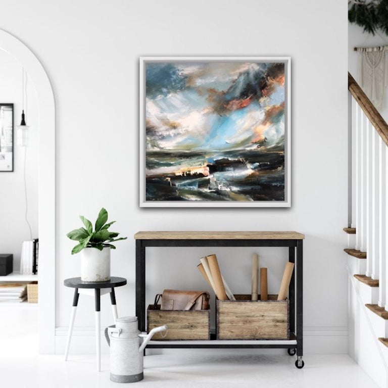 Sacred Song, Helen Howells, Original Contemporary Painting, Abstract Seascape Ar For Sale 5
