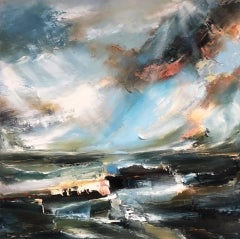 Sacred Song, Helen Howells, Original Contemporary Painting, Abstract Seascape Ar