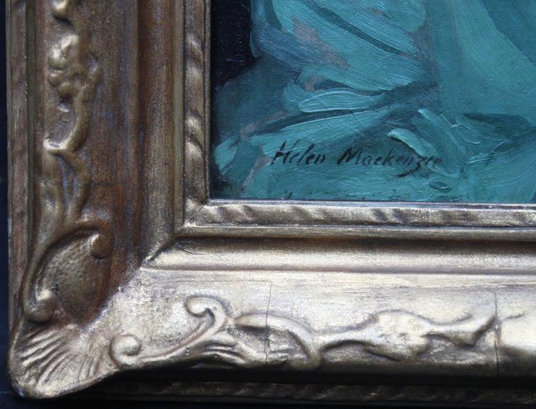 Nurse Dorothy Hewins - Scottish art 1918 portrait oil painting female artist  For Sale 1