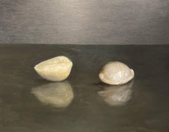 Composition with Two Shells - Original Still Life Oil Painting on Panel