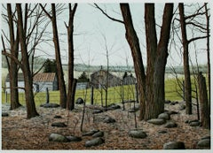 """""""Wooded Stead,"""" original color lithograph by Helen Rundell"""