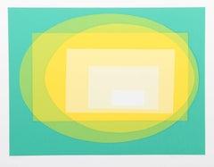 Transformation, OP Art serigraph by Helen Thomas