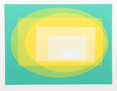Transformation, OP Art serigraph by Helen Thomas