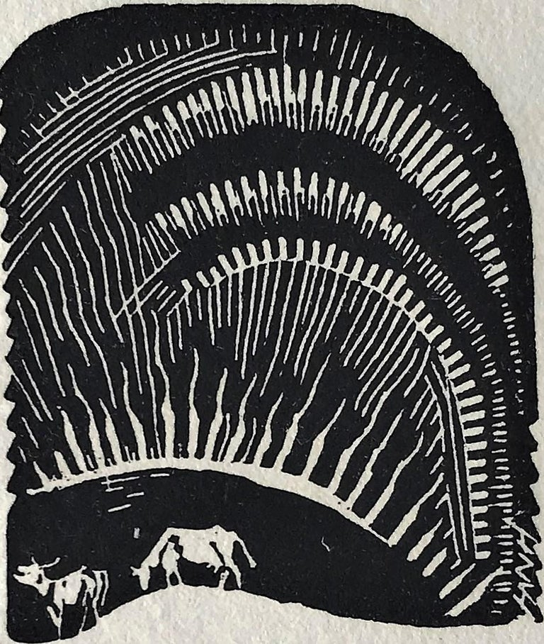 Silence. c. 1927. Woodcut. 4 5/16 x 2 7/16 (sheet 7 9/16 x 6 1/8). Printed on fibrous Japanese mulberry paper. Initialed in the plate. Signed in pencil. Housed in its original 13 5/8 x 10 1/2-inch exhibition mat from the Derepas gallery in