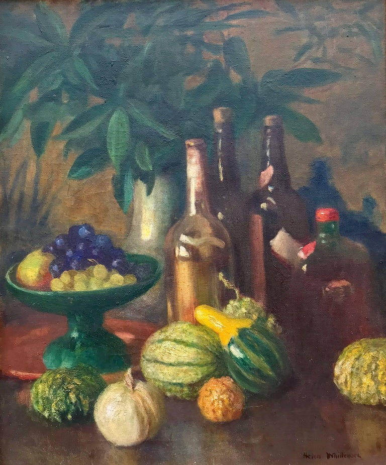 """Helen Whittemore Still-Life Painting - """"Still Life with Wine"""""""