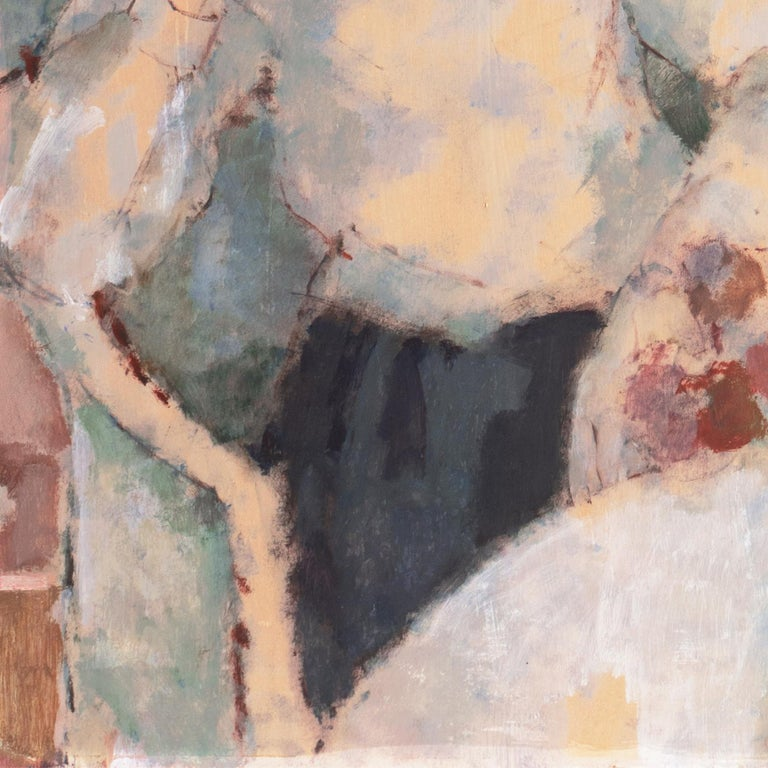 'Young Woman Seated', Art Students League, New York, Otis Art Inst., Los Angeles - Beige Still-Life Painting by Helen Winslow