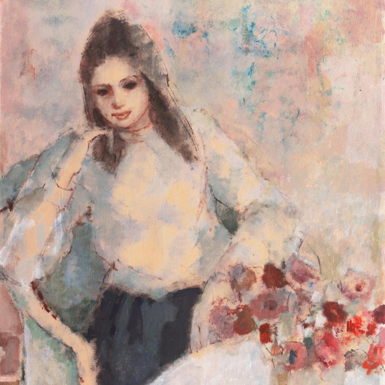 'Young Woman Seated', Art Students League, New York, Otis Art Inst., Los Angeles For Sale 2