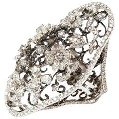 Helen Yarmak 18 Karat White Gold Diamond Ring