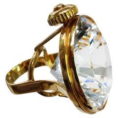 Helen Yarmak 18 Karat Yellow Gold and White Topaz Ring