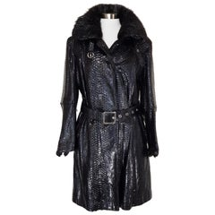 Helen Yarmak Python Leather Coat